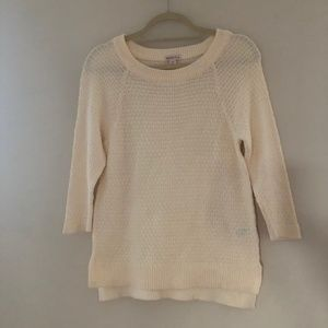 Merona Small Ivory 3/4 Sleeve Sweater I5